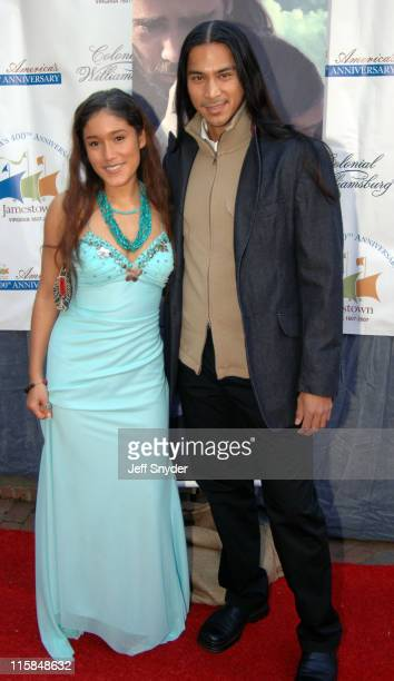 Q'orianka Kilcher and Kalani Queypo during 'The New World' Williamsburg Premiere at Colonial Williamsburg's Kimball Theatre in Williamsburg Virginia...