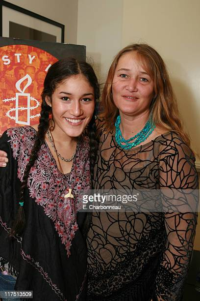 Q'Orianka Kilcher and mother Saskia Kilcher during Amnesty International and Fox Searchlight Pictures special screening of 'Water' at Clarity Theatre...
