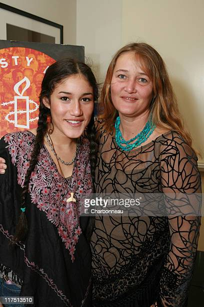 Q'Orianka Kilcher and mother Saskia Kilcher during Amnesty International and Fox Searchlight Pictures special screening of Water at Clarity Theatre...