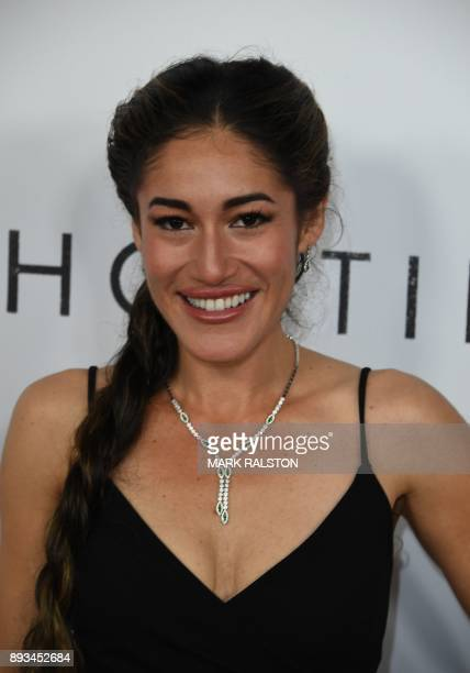 Q'orianka Kilcher arrives for the premiere of 'Hostiles' in Beverly Hills California on December 14 2017 / AFP PHOTO / MARK RALSTON