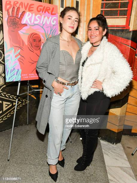 Q'orianka Kilcher attends Girl Rising and International Rescue Committee's special screening of Documentary Film 'Brave Girl Rising' for...