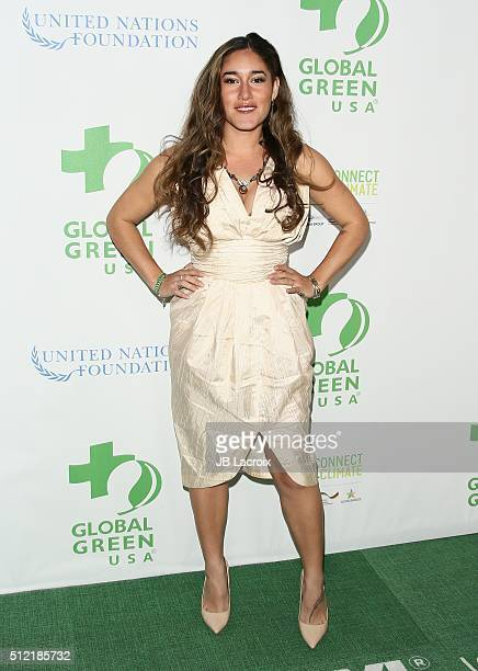 Q'orianka Kilcher attends Global Green USA's 13th annual preOscar party at Mr C Beverly Hills on February 24 2016 in Los Angeles California