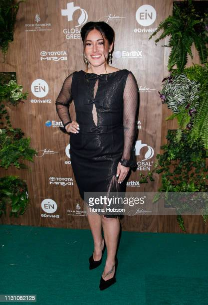 Q'orianka Kilcher attends Global Green's 2019 PreOscar Gala at Four Seasons Hotel Los Angeles at Beverly Hills on February 20 2019 in Los Angeles...