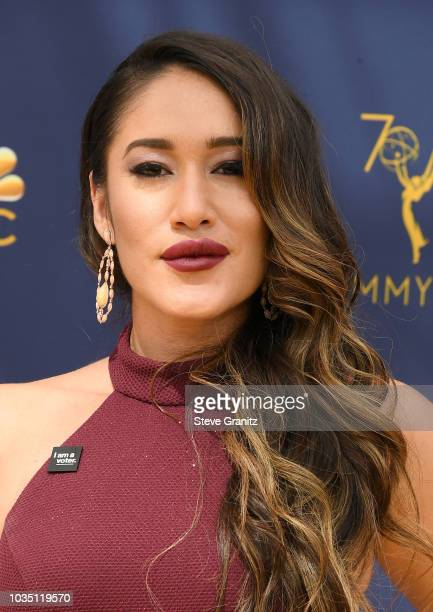 Q'orianka Kilcher attends the 70th Emmy Awards at Microsoft Theater on September 17 2018 in Los Angeles California