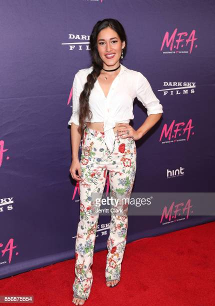 Q'orianka Kilcher attends the Premiere Of Dark Sky Films' 'MFA' at The London West Hollywood on October 2 2017 in West Hollywood California