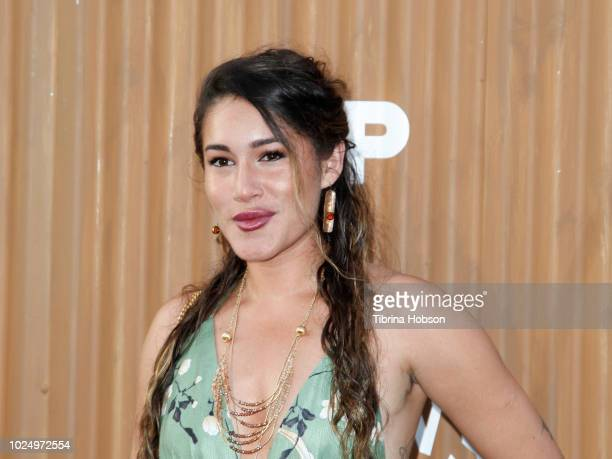 Q'orianka Kilcher attends the premiere of FX's 'Mayans MC' at TCL Chinese Theatre on August 28 2018 in Hollywood California