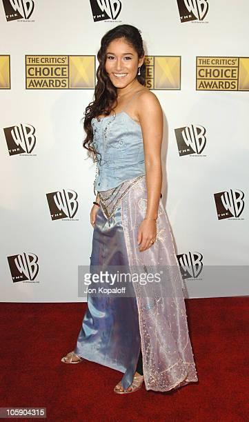 Q'Orianka Kilcher during 11th Annual Critics' Choice Awards Arrivals at Santa Monica Civic Auditorium in Santa Monica California United States