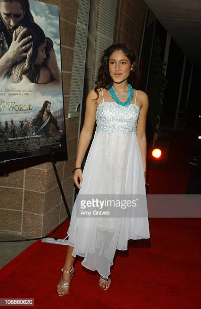 Q'Orianka Kilcher during 17th Annual Palm Springs International Film Festival Opening Night Screening of The New World at Palm Springs High School in...