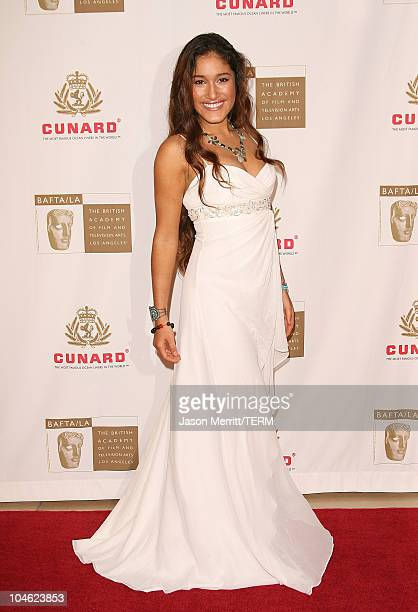 Q'orianka Kilcher during 2005 BAFTA/LA Cunard Britannia Awards Arrivals at Beverly Hilton Hotel in Beverly Hills California United States