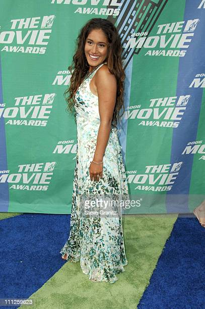 Q'Orianka Kilcher during 2006 MTV Movie Awards Arrivals at Sony Pictures in Culver City California United States