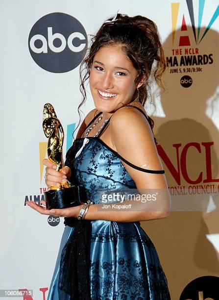 Q'Orianka Kilcher during 2006 NCLR ALMA Awards Press Room at Shrine Auditorium in Los Angeles California United States