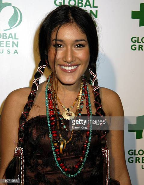 Q'Orianka Kilcher during Global Green USA's 2006 Oscar Party Arrivals at Henry Fonda Music Box Theatre in Los Angeles California United States