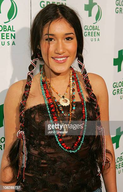 Q'Orianka Kilcher during Global Green USA's 2006 Oscar Party in Los Angeles California United States