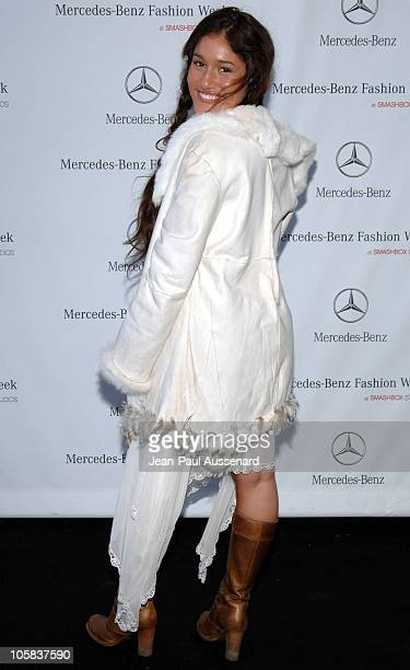 Q'Orianka Kilcher during MercedesBenz Fall 2006 LA Fashion Week at Smashbox Studios Day 5 Arrivals at Smashbox Studios in Culver City California...