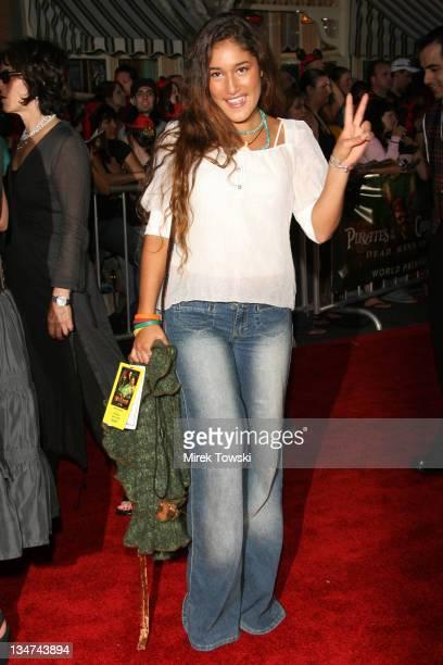 Q'Orianka Kilcher during Pirates of the Caribbean Dead Man's Chest Los Angeles Premiere Arrivals at Main Street USA Disneyland in Anaheim California...