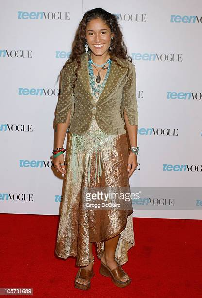 Q'Orianka Kilcher during Teen Vogue Celebrates Young Hollywood Issue Arrivals at Hollywood Roosevelt Hotel in Hollywood California United States