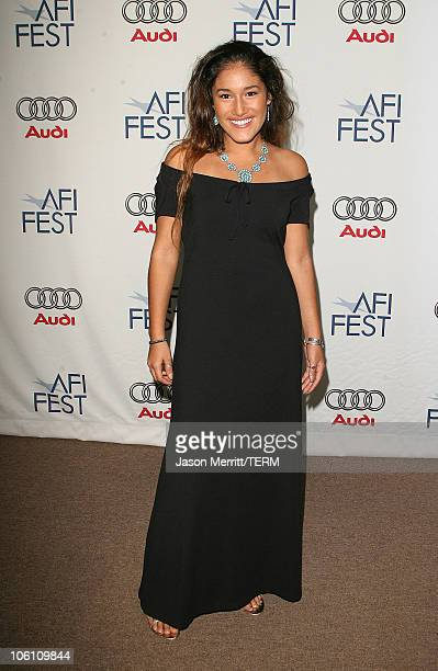 Q'Orianka Kilcher during 'The Dead Girl' Los Angeles Premiere Arrivals at ArcLight Rooftop Loft in Hollywood California United States