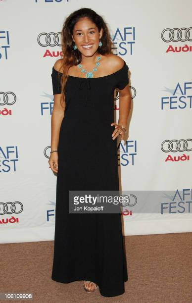 Q'Orianka Kilcher during The Dead Girl Los Angeles Premiere Arrivals at ArcLight Rooftop Loft in Hollywood California United States