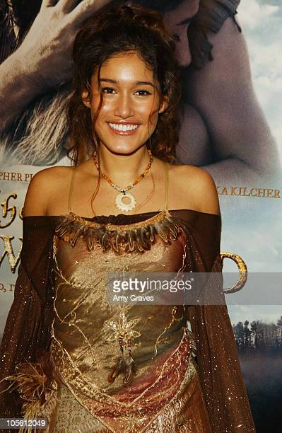 Q'Orianka Kilcher during The New World Los Angeles Premiere to Benefit the American Film Institute at Academy of Motion Picture Arts and Sciences in...