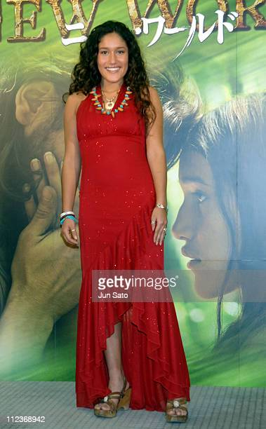 Q'Orianka Kilcher during The New World Tokyo Premiere Photocall at Asahi Hall in Tokyo Japan