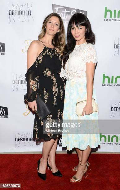 Orianna Herrman and Michelle Lukes attend The Artists Project Boo2Bullying Toy Drive to Benefit the Los Angeles Fire Department on December 14 2017...