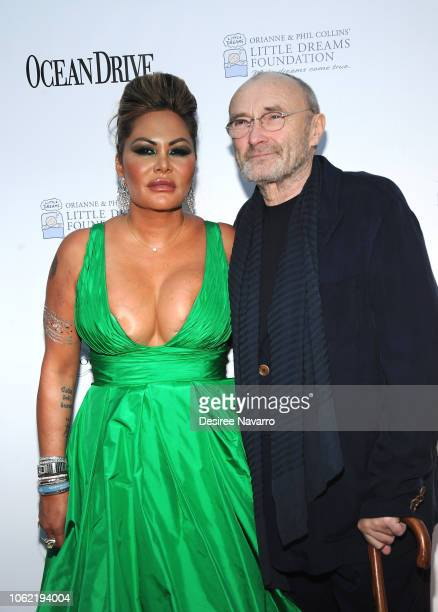 Orianne Cevey and Phil Collins attend the 4th Annual Dreaming on the Beach Gala at Fillmore Miami Beach on November 15 2018 in Miami Beach Florida