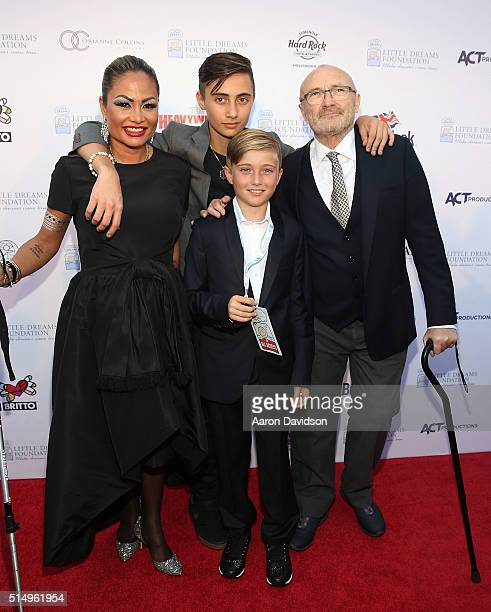 Orianne Cevey Nic Collins Matt Collins and Phil Collins attend The Little Dreams Foundation Benefit Gala Dreaming on the Beach at Fillmore Miami...