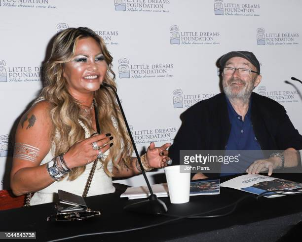 Orianne Collins and Phil Collins are seen at Little Dreams Foundation's Little Dreamers 2018 at The Lounge at The Setai on October 2 2018 in Miami...