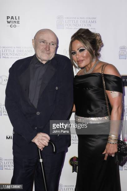 Orianne Collins and Phil Collins arrive at 5th Annual Orianne Phil Collins' Little Dreams Foundation Gala at The Moore Building on November 16 2019...