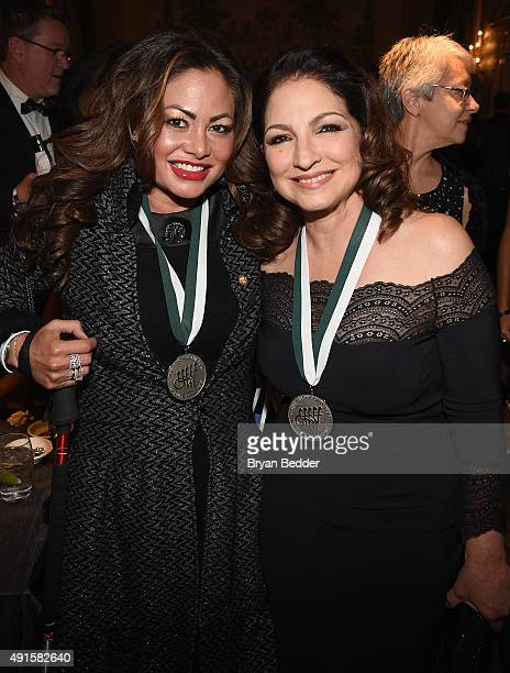 Orianne Collins and singer Gloria Estefan attend the 30th Annual Great Sports Legends Dinner to benefit The Buoniconti Fund to Cure Paralysis at The...