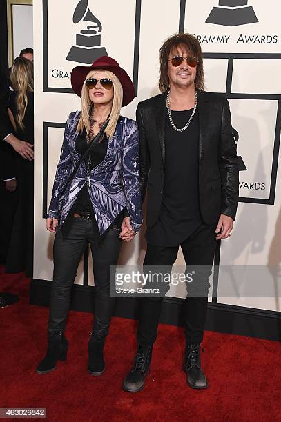 Orianthi and recording artist Richie Sambora attend The 57th Annual GRAMMY Awards at the STAPLES Center on February 8 2015 in Los Angeles California