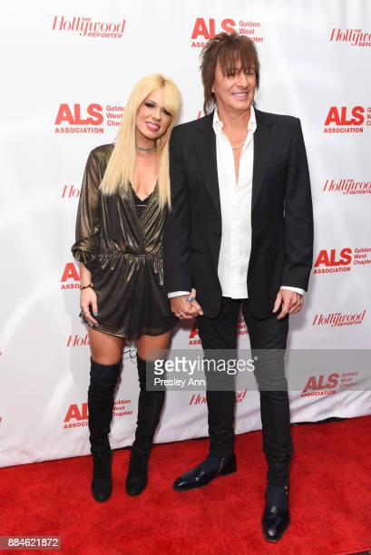 Orianthi and Richie Sambora attend ALS Golden West Chapter Hosts Champions For Care And A Cure at The Fairmont Miramar Hotel Bungalows on December 2...