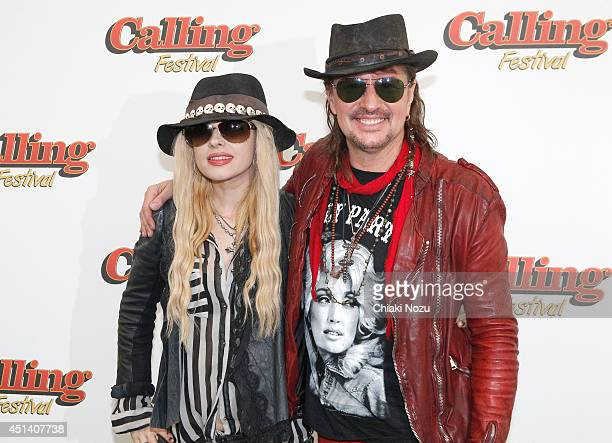 Orianthi and Richie Sambora on Day 1 of the Calling Festival at Clapham Common on June 28 2014 in London England