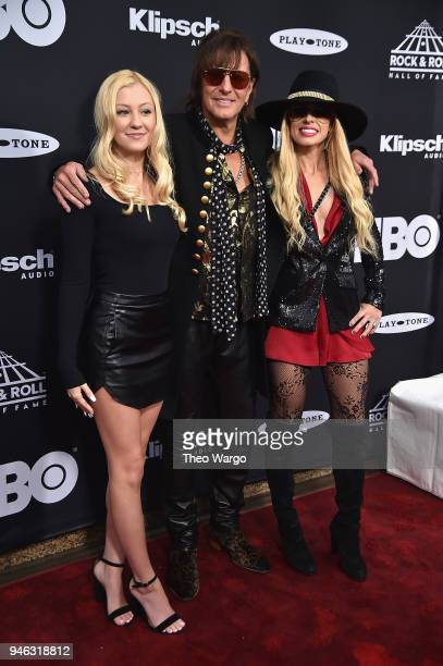 Orianthi inductee Richie Sambora of Bon Jovi and Ava Elizabeth Sambora attend the 33rd Annual Rock Roll Hall of Fame Induction Ceremony at Public...
