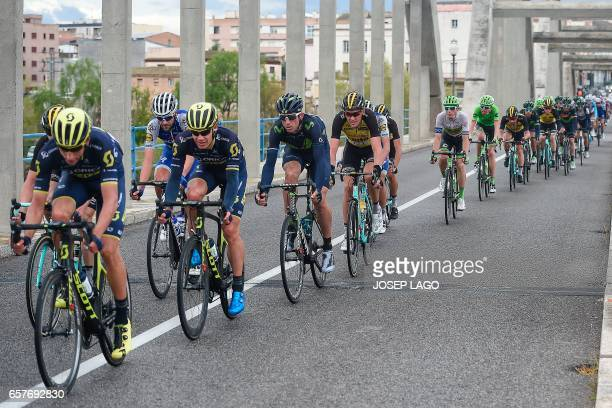 Orica's South African cyclist Daryl Impey rides on the sixth stage of the 97th Volta Catalunya 2017 a 189,7km from Tortosa to Reus, in Bot on March...