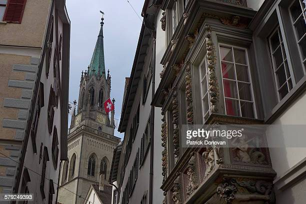 Oriel windows & spire, St. Gallen, Switzerland