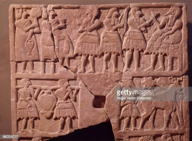 Oriental art Religious scene Votive tablet from the region of Dyala or Ur Museum of Baghdad
