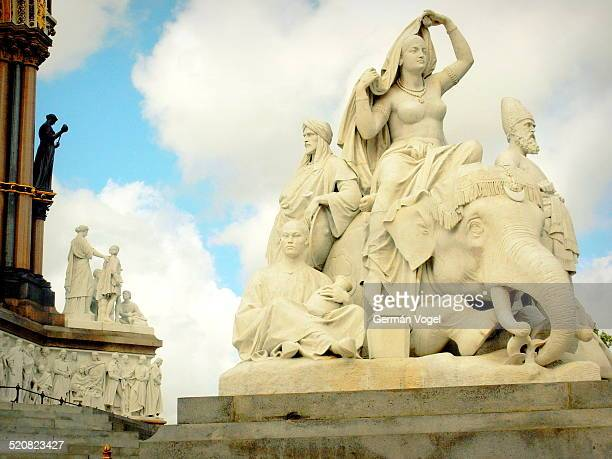 Oriental corner of the monument honoring British imperialism at Albert Memorial of London.