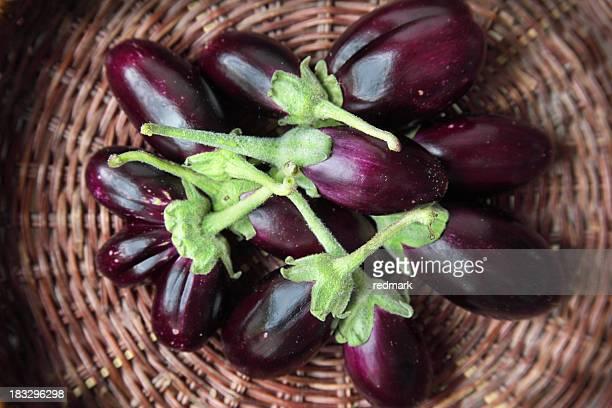 Oriental eggplants aka aubergines