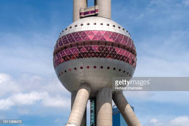 oriental pearl television tower, pudong, shanghai, china - oriental pearl tower shanghai stock pictures, royalty-free photos & images