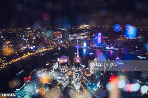 Oriental Pearl tower and surrounding buildings, Shanghai, China