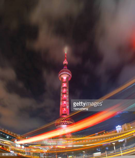 Oriental Pearl Tower in holiday night,shanghai,china