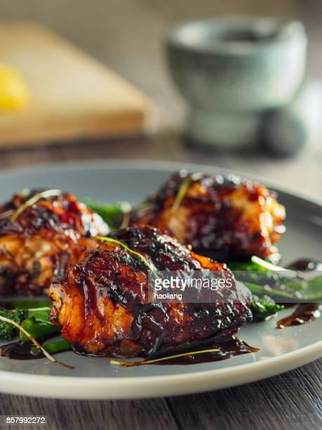 Cuisse de poulet collant oriental