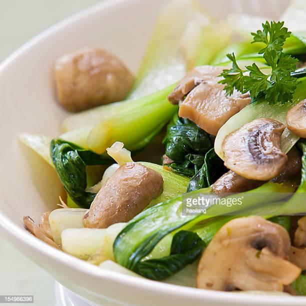 東洋風炒めた野菜のミックス - 白梗菜 ストックフォトと画像