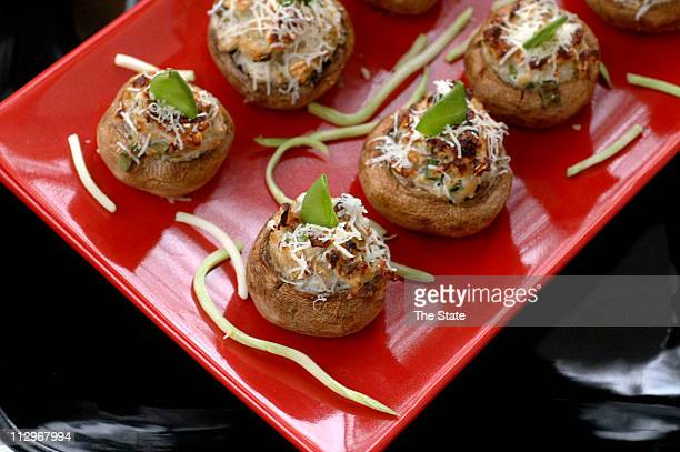 Oriental Stuffed Mushrooms using Quaker oats.