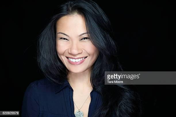 oriental woman smiling