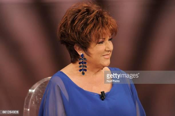 Orietta Berti italian pop singer during the tv show Che Tempo Che Fa in Milan, Italy, on March 26, 2017.