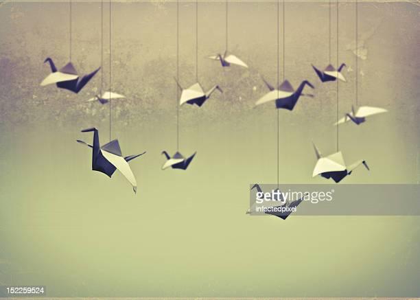 Origami birds.