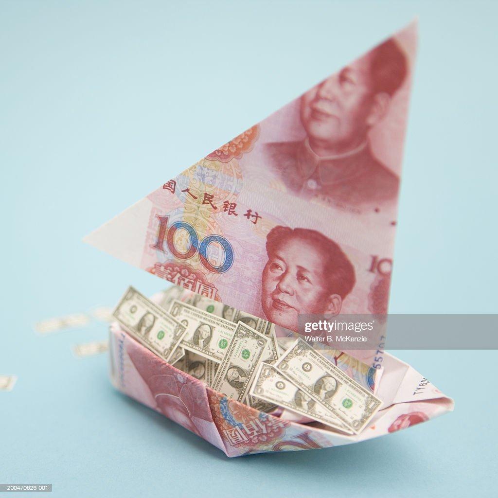 Fisherman Boat Money Origami | Money origami, Dollar bill origami ... | 1024x1024