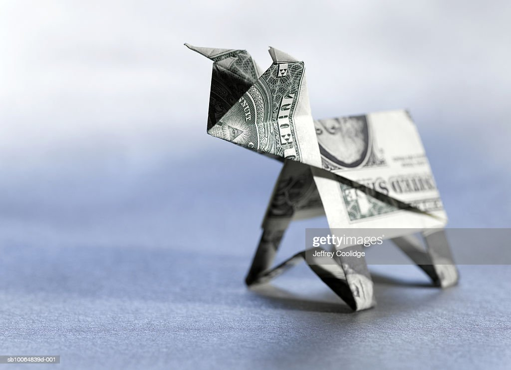 Origami money gun | Origami dollar double-barreled gun. More… | Flickr | 741x1024